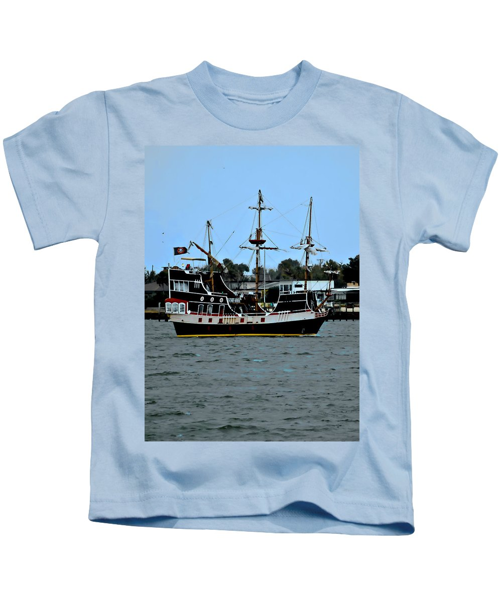 Ship Kids T-Shirt featuring the photograph Pirate Ship Of The Matanzas by DigiArt Diaries by Vicky B Fuller