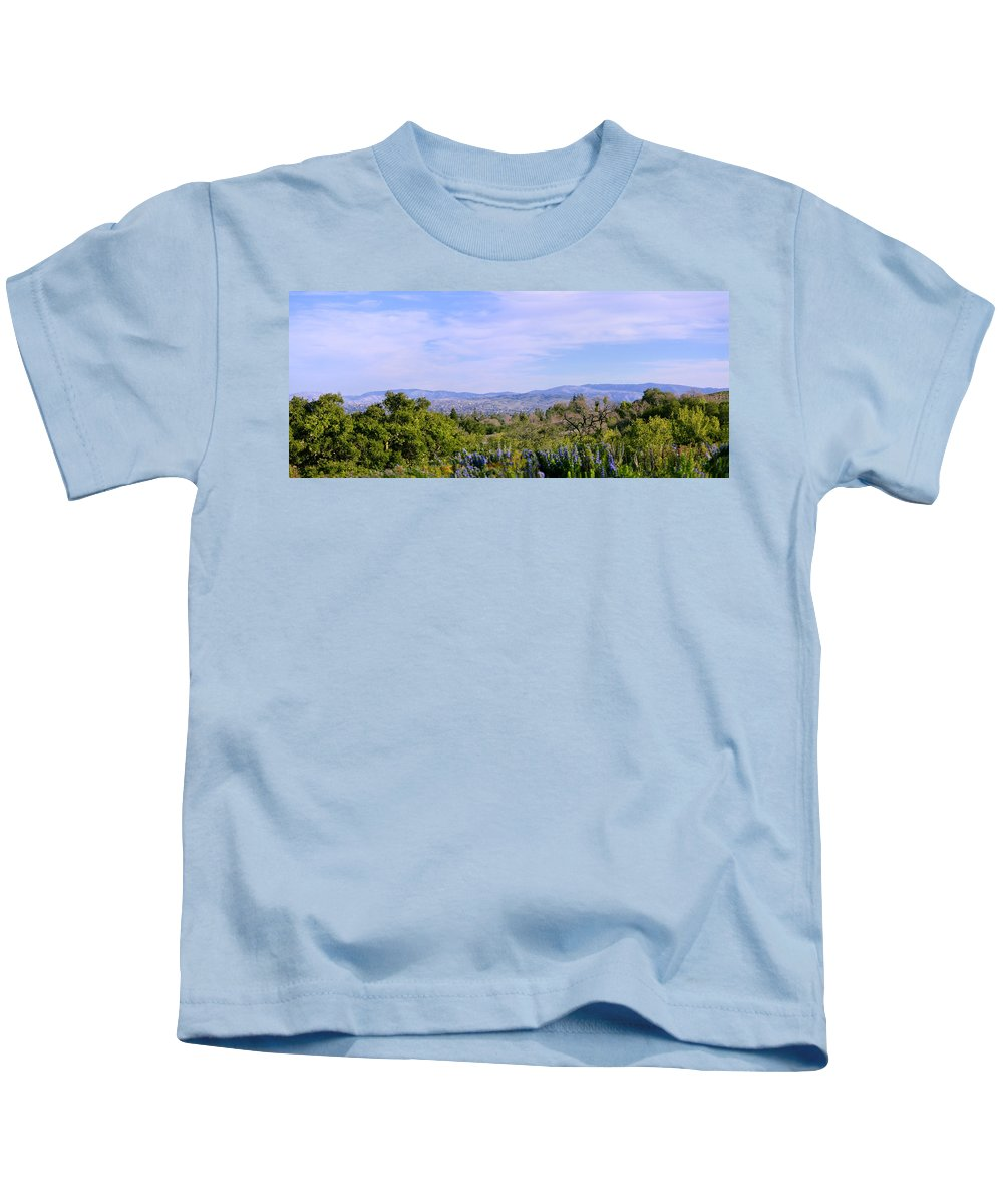 February Kids T-Shirt featuring the photograph Pleasanton Preserve by Karen W Meyer