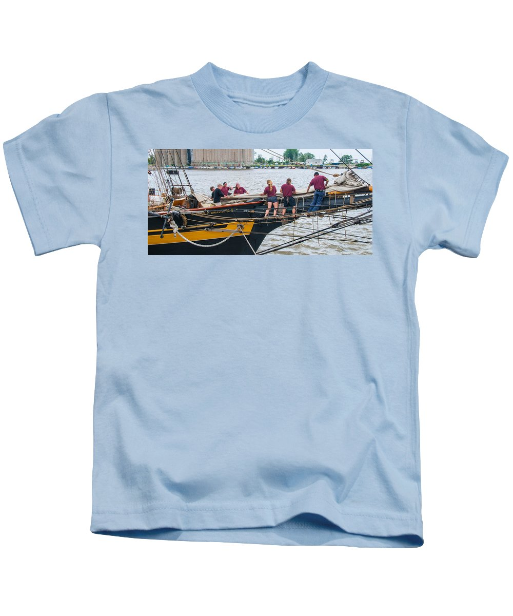 Boats Kids T-Shirt featuring the photograph Putting Her To Bed by Guy Whiteley