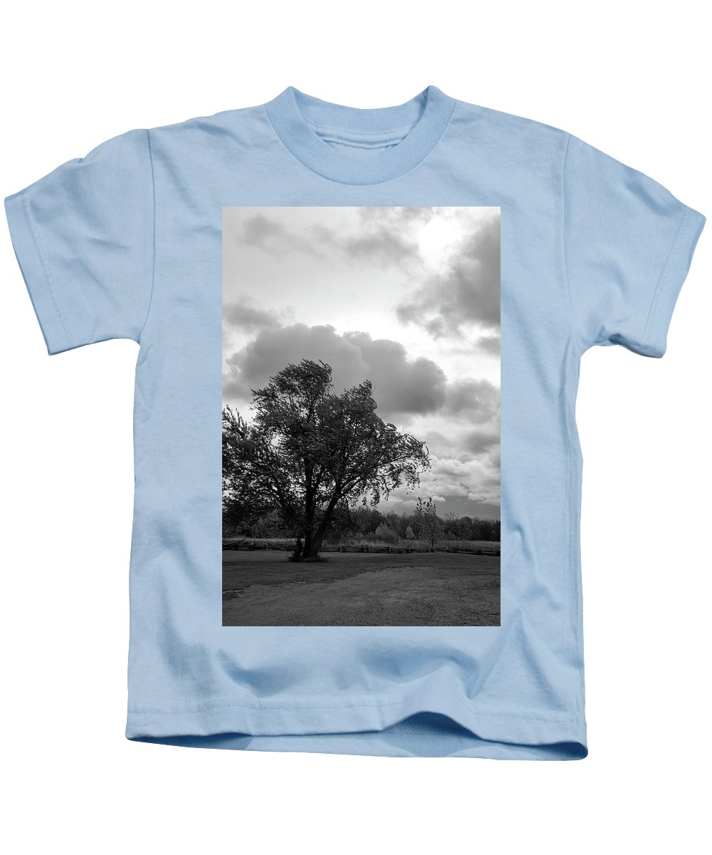 Tree Kids T-Shirt featuring the photograph R I P by Guy Whiteley