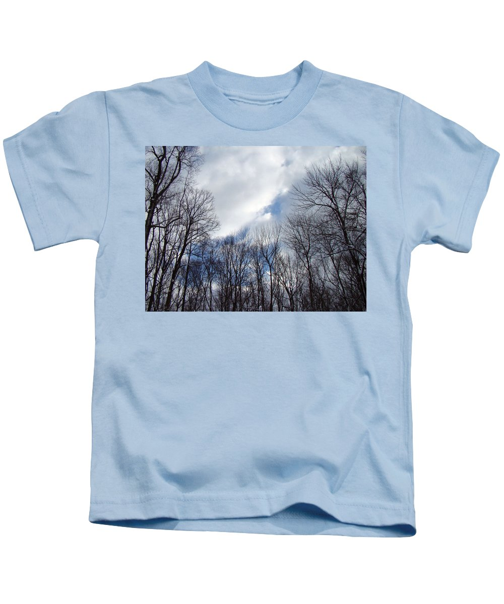 Trees Kids T-Shirt featuring the photograph Reach For The Sky by Mother Nature