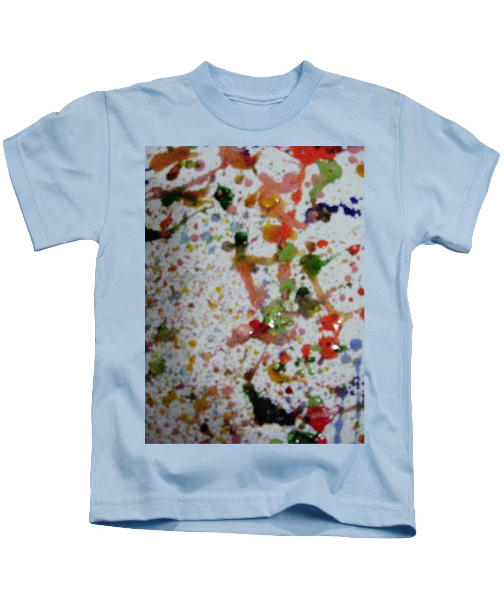 Colors....................red Kids T-Shirt featuring the painting Rush by Sonali Gangane