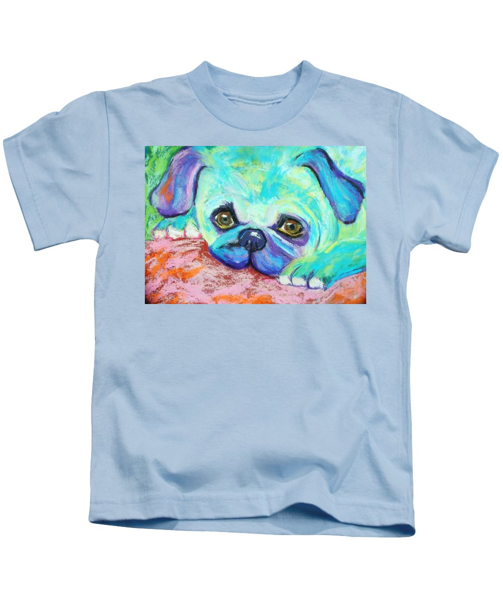Dog Kids T-Shirt featuring the painting Scout by Melinda Etzold