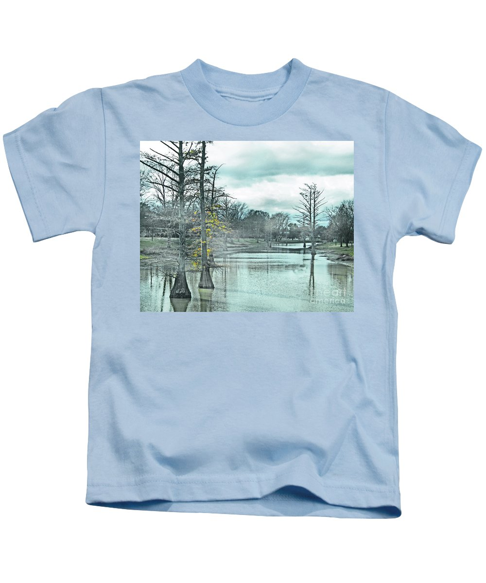Shaw Kids T-Shirt featuring the digital art Shaw Mississippi by Lizi Beard-Ward