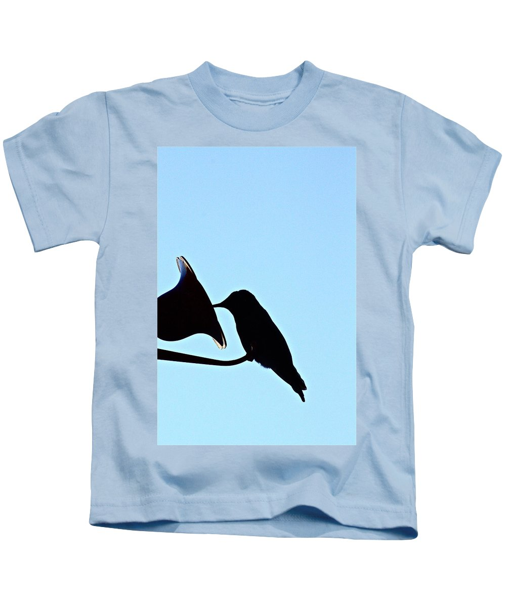 Birds Kids T-Shirt featuring the photograph Silhouette by Diana Hatcher