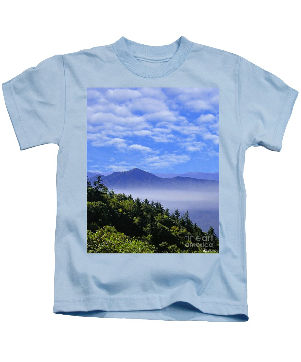 Mountains Kids T-Shirt featuring the digital art Smoky Mountains by Lizi Beard-Ward