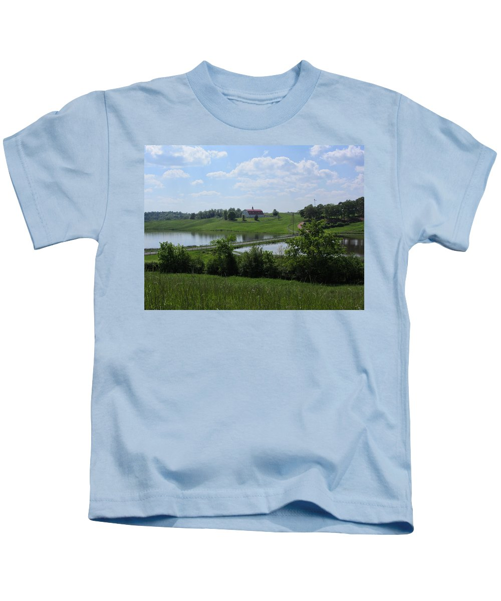 Barn Kids T-Shirt featuring the photograph Sweet Alabama Barn by Kathy Clark