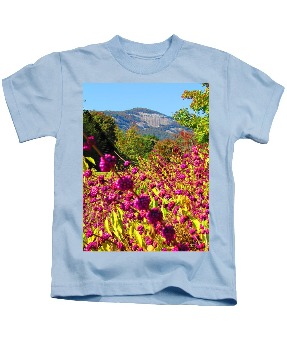 Table Rock Kids T-Shirt featuring the photograph Table Rock by Ginger Adams