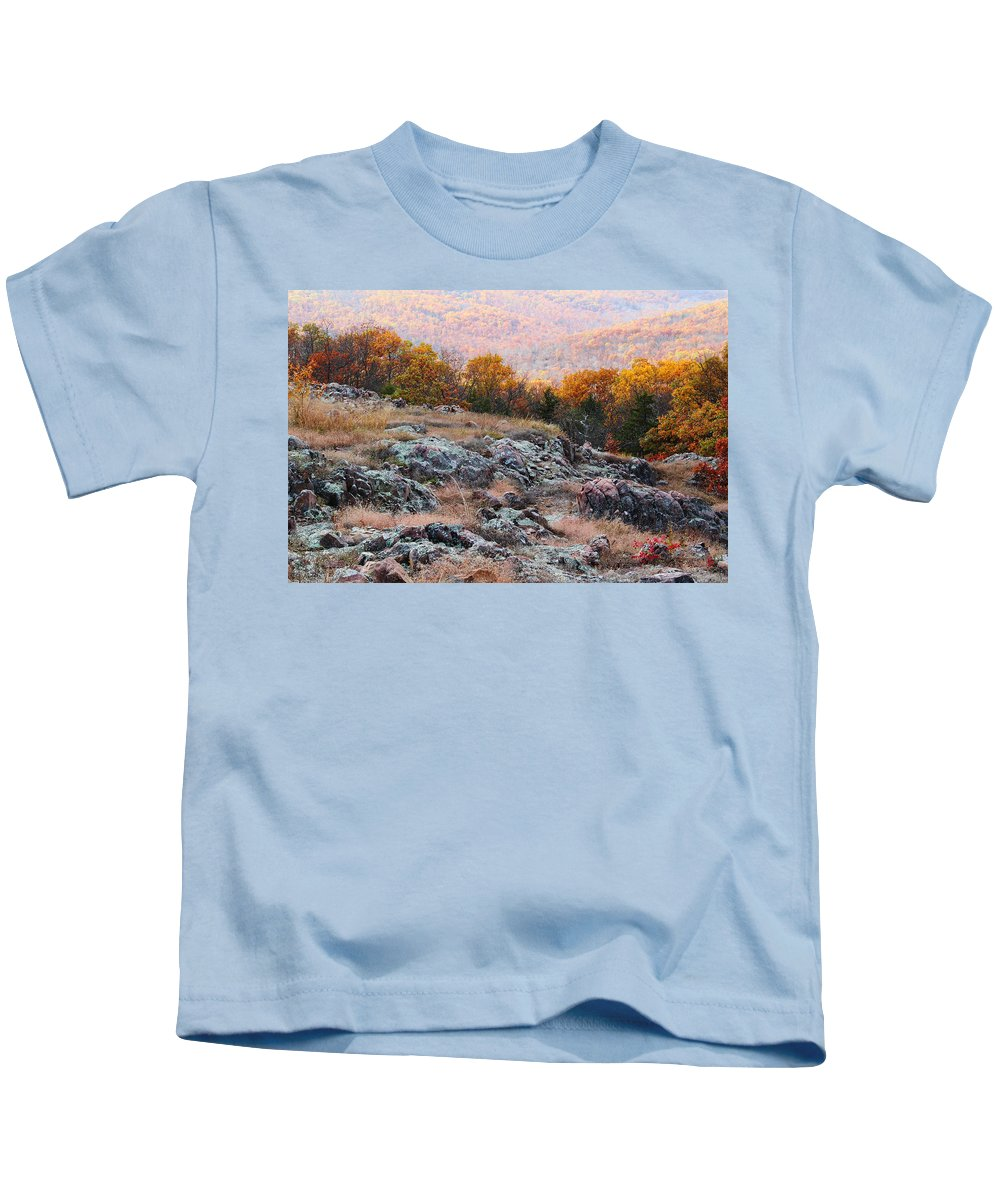 Landscape Kids T-Shirt featuring the photograph Taum Sauk Mountain Glade I by Greg Matchick
