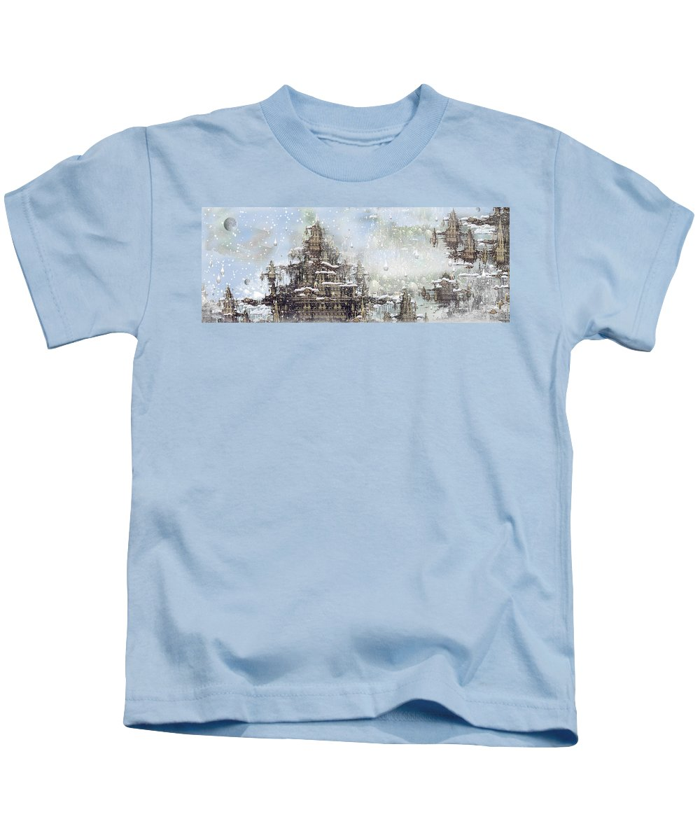 Phil Sadler Kids T-Shirt featuring the digital art Temples Of The North by Phil Sadler