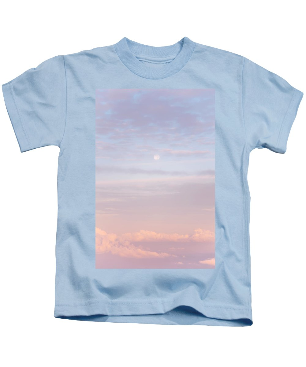 Sky Kids T-Shirt featuring the photograph Tender Welcoming Sky Over Spain. Full Moon by Jenny Rainbow
