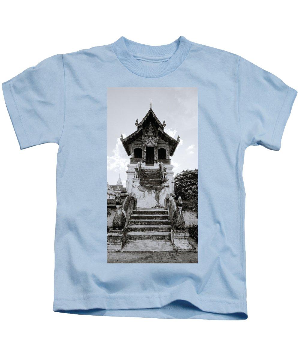 Wat Kids T-Shirt featuring the photograph Thai Architecture by Shaun Higson