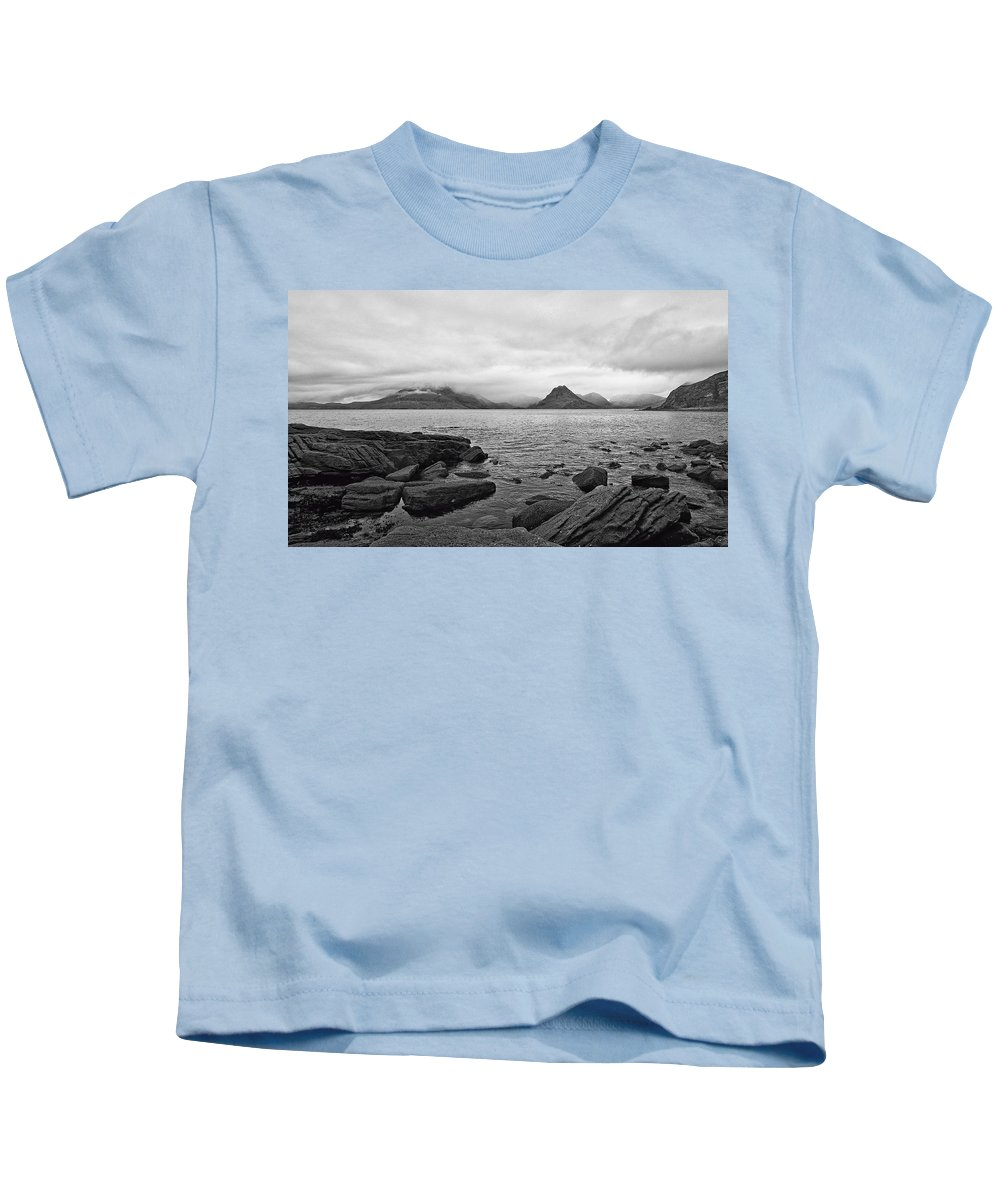 Cuillins Kids T-Shirt featuring the photograph The Cuillin's In The Mist by Chris Thaxter
