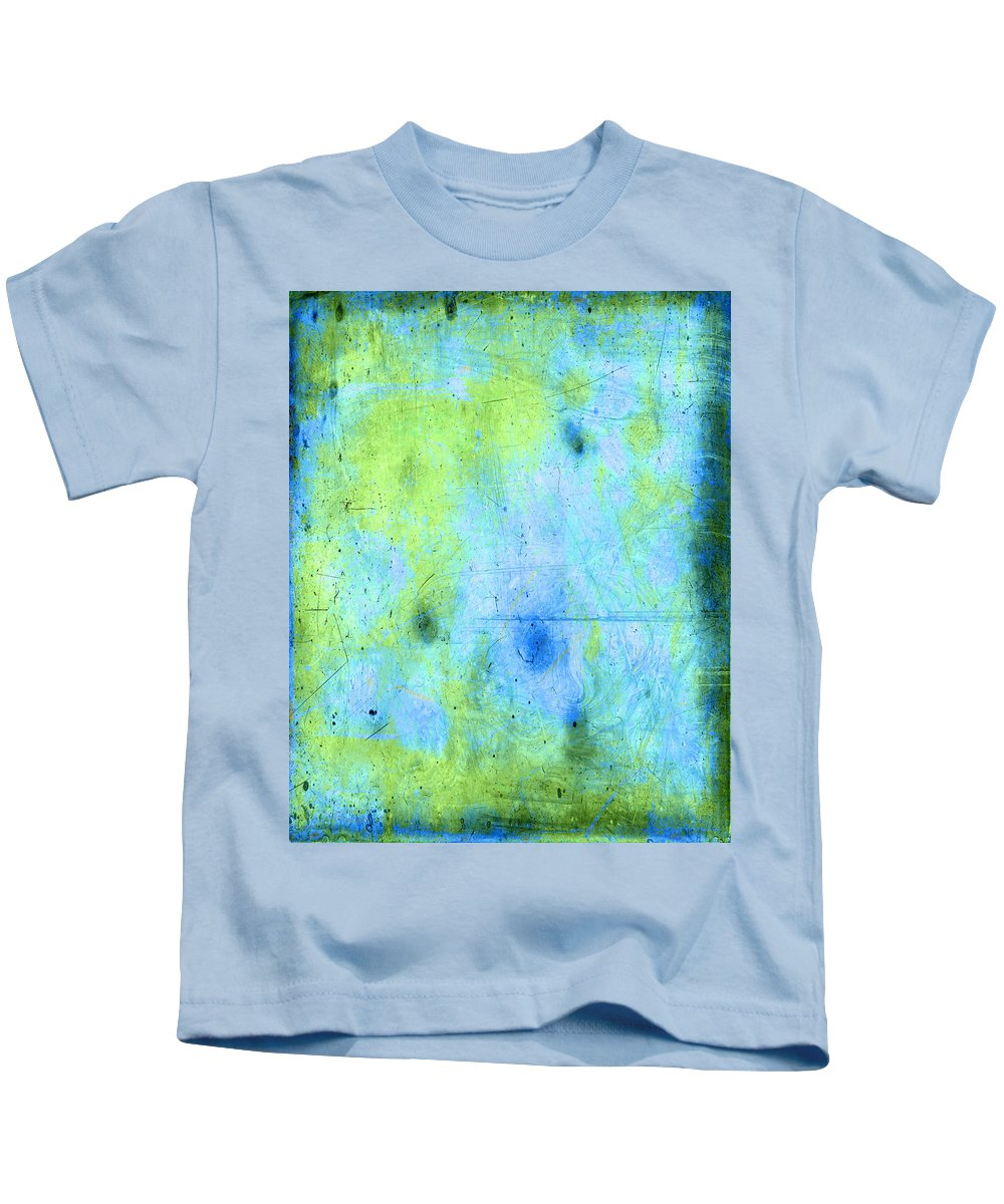 Blue Kids T-Shirt featuring the painting The Frog Pond by Julie Niemela