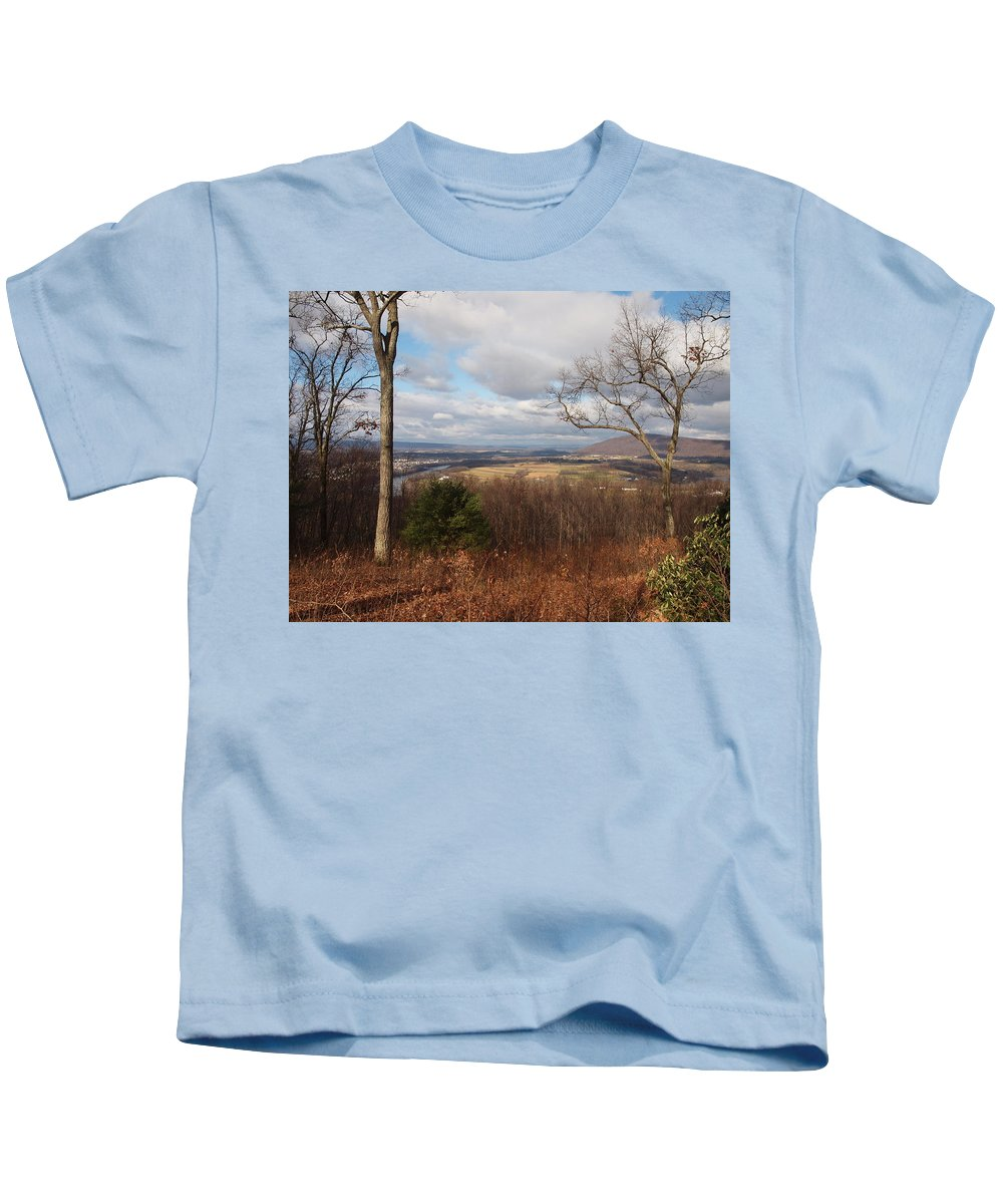 Farms Photographs Kids T-Shirt featuring the photograph The Hills Have Eyes by Robert Margetts