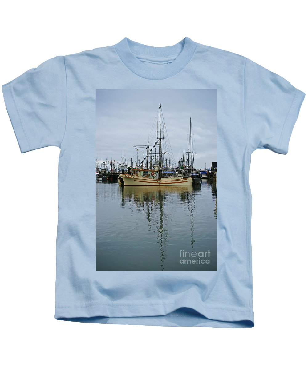 Fishing Boats Kids T-Shirt featuring the photograph The Savoy by Randy Harris