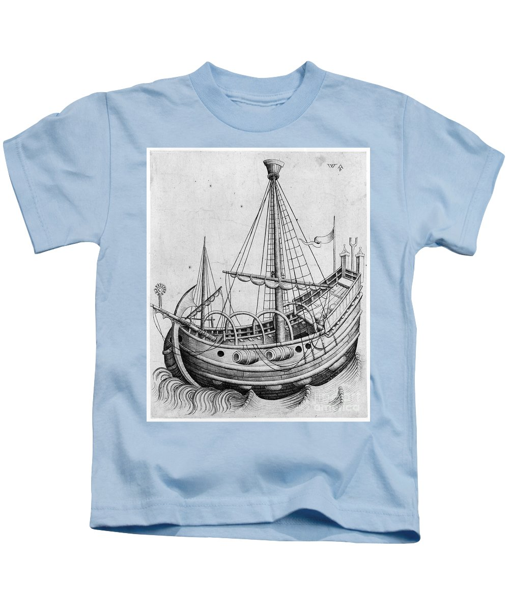 1470 Kids T-Shirt featuring the photograph The Ship, C1470 by Granger