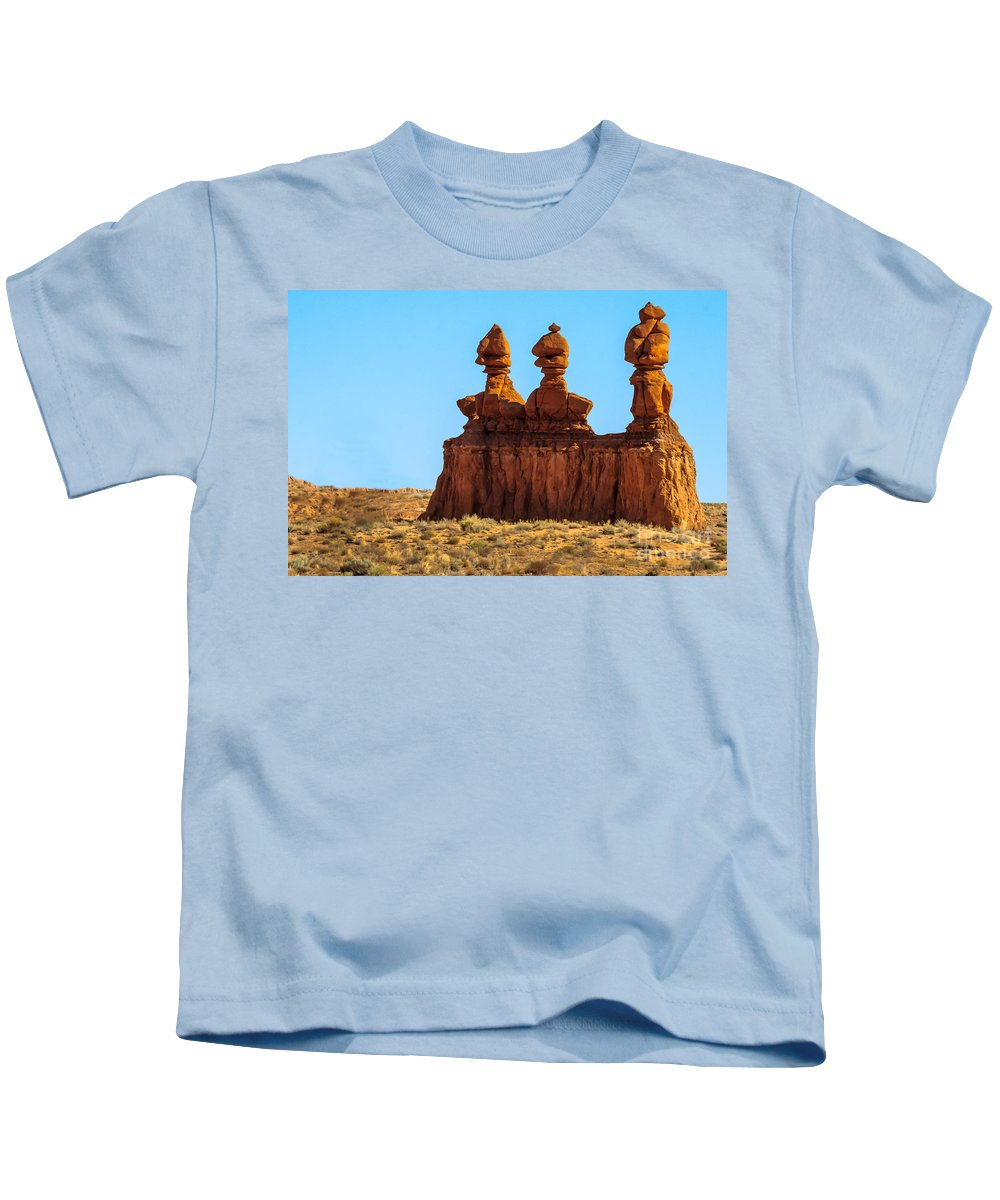 Green River Kids T-Shirt featuring the photograph The Three Goblins by Robert Bales