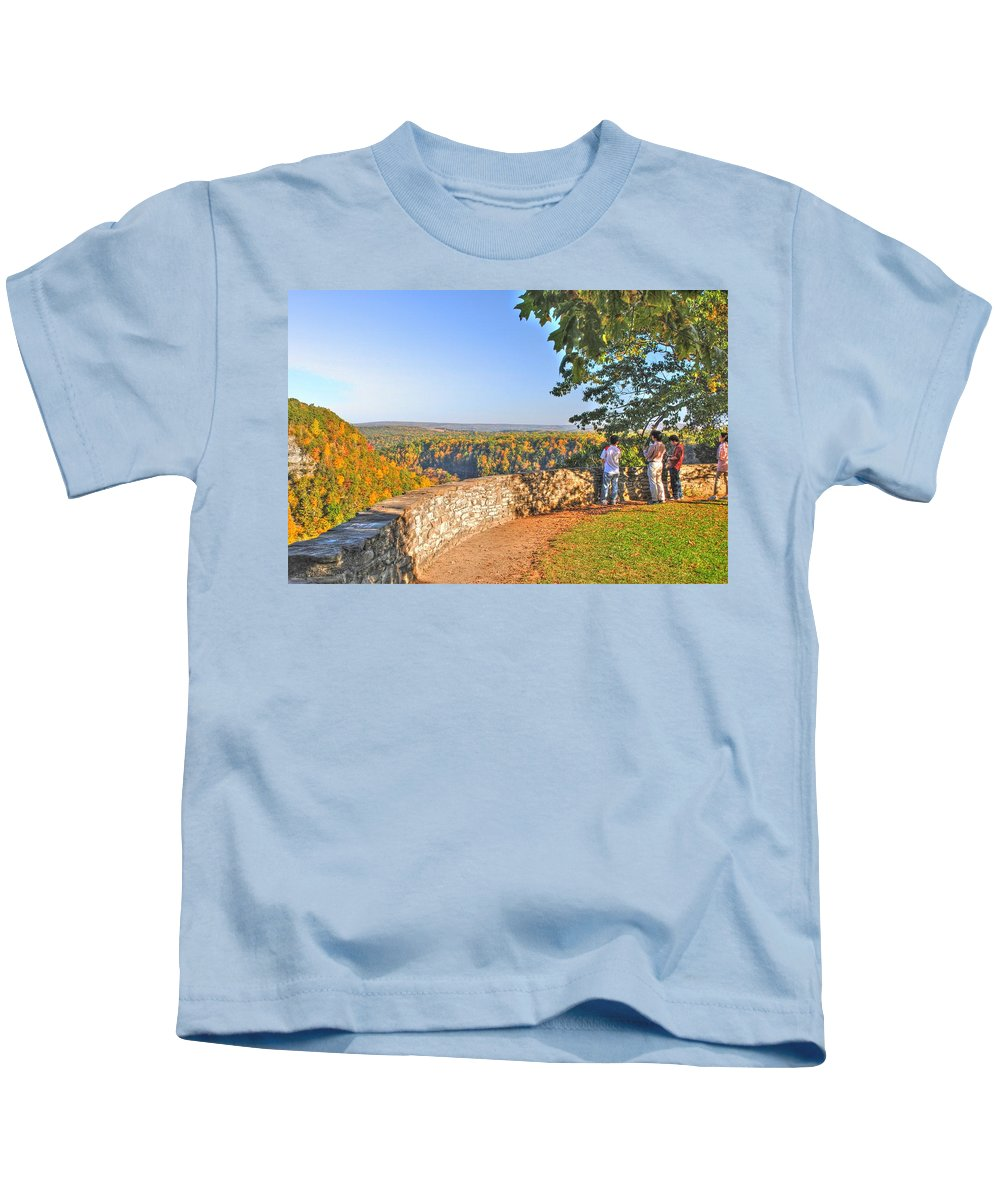 Kids T-Shirt featuring the photograph The View by Michael Frank Jr