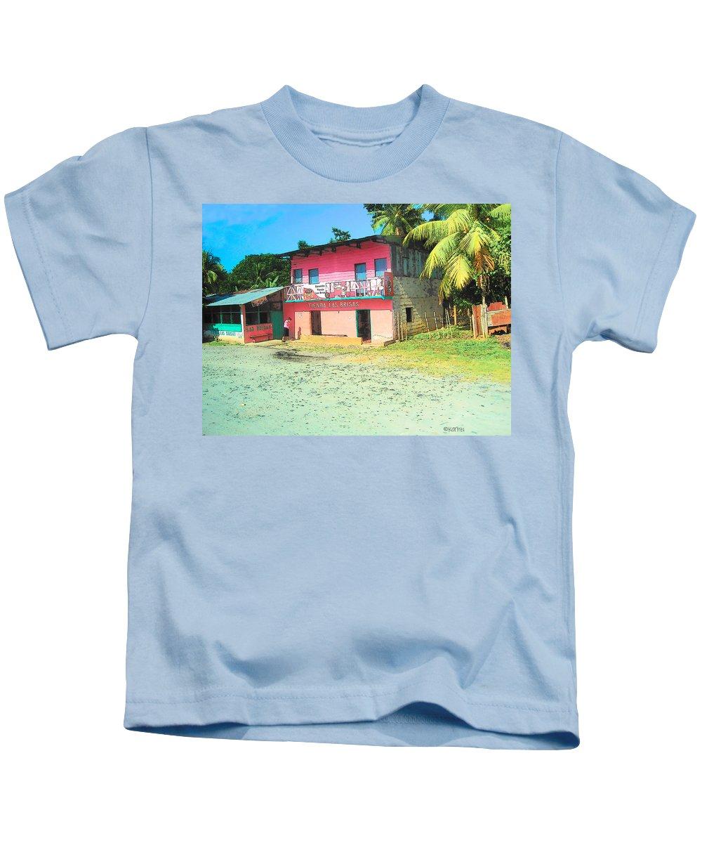 Colorful Kids T-Shirt featuring the photograph Tienda Las Brisas by Rebecca Korpita