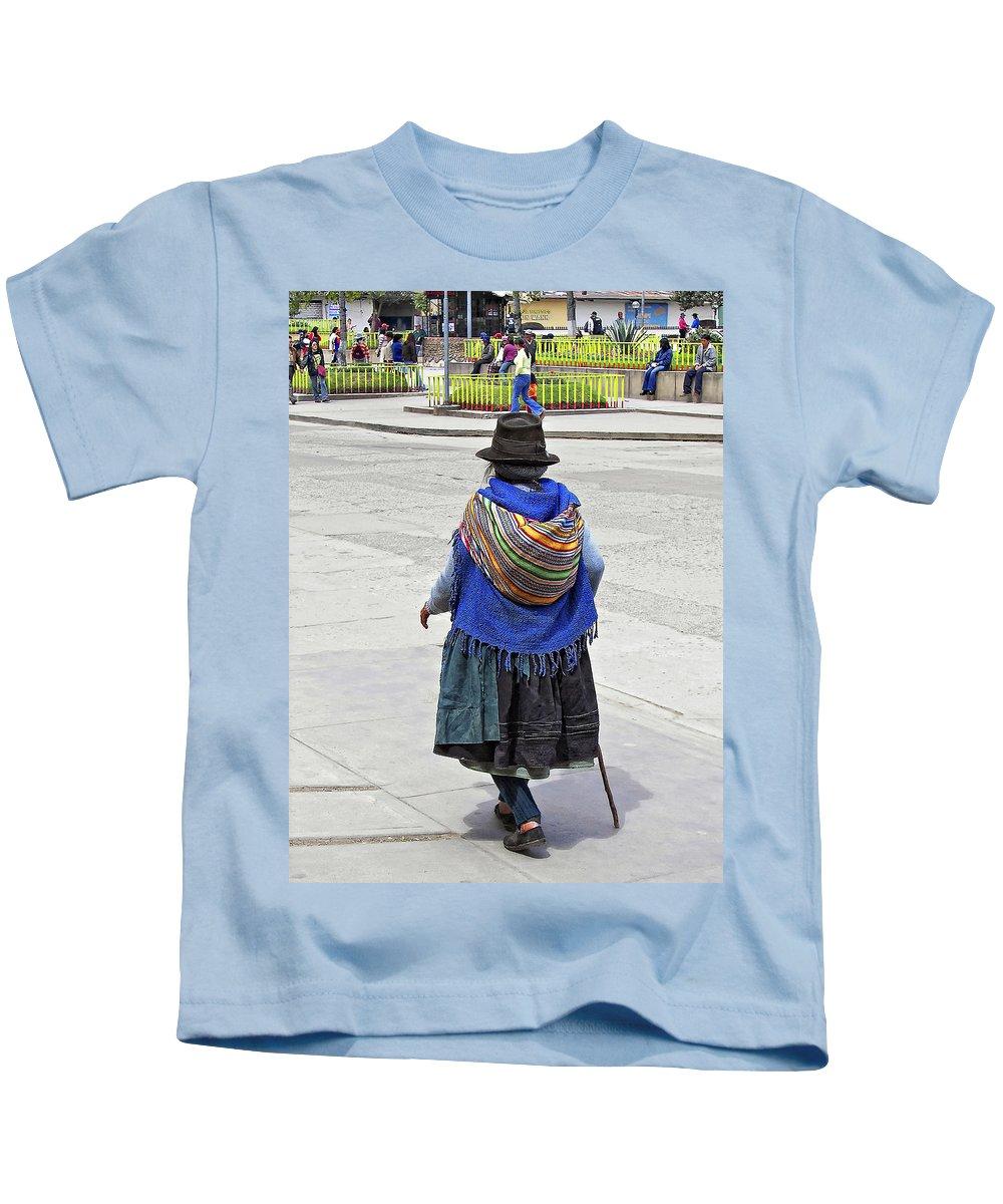 Peru Kids T-Shirt featuring the photograph Time Walker by Steve Harrington
