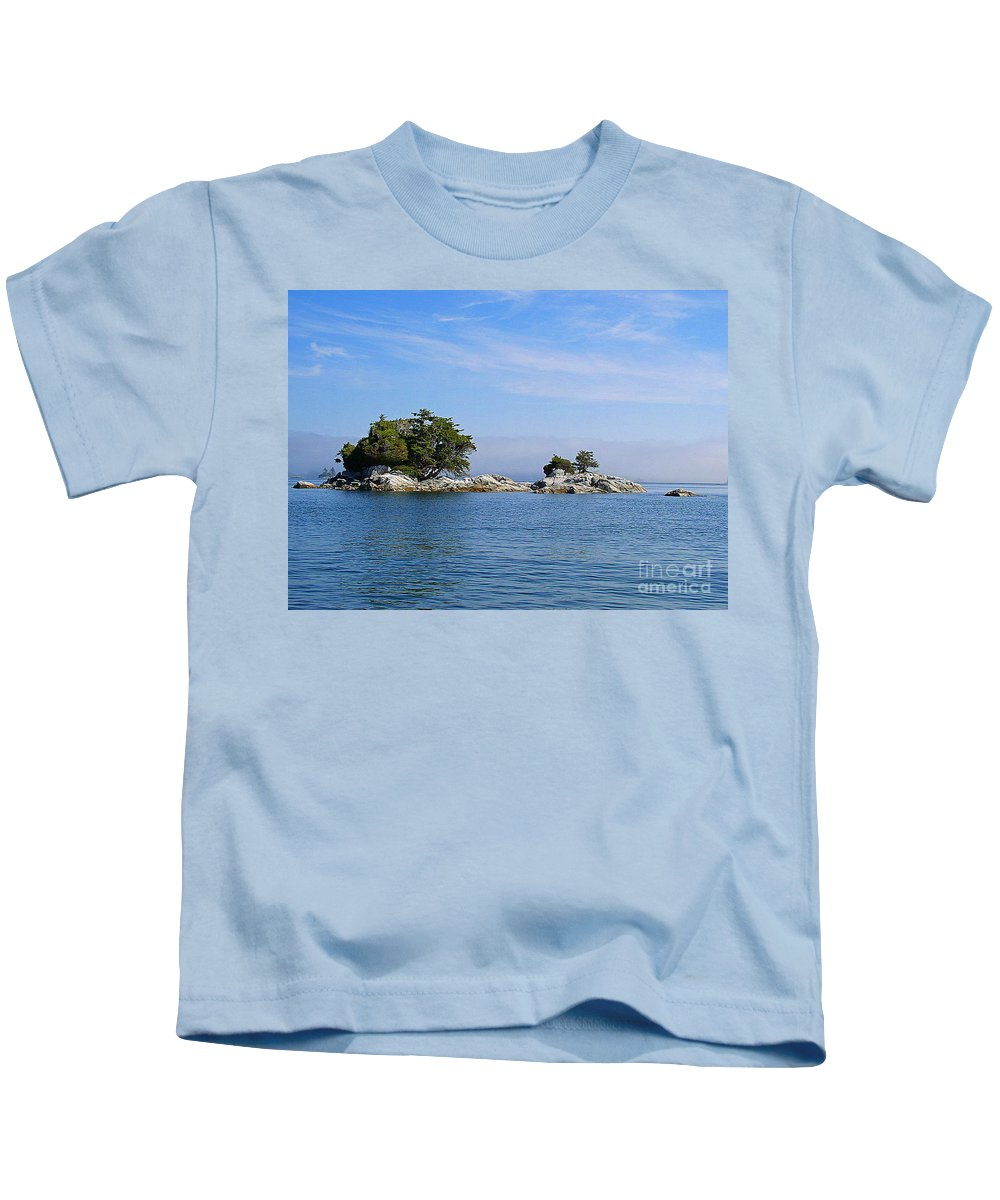 Islands Kids T-Shirt featuring the photograph Tiny Island Off Vancouver Island by Randy Harris