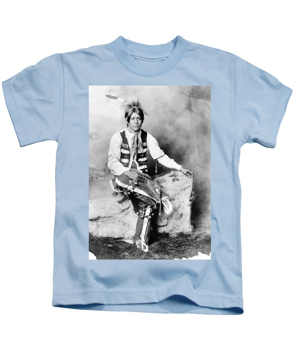 1906 Kids T-Shirt featuring the photograph Ute Man, C1906 by Granger