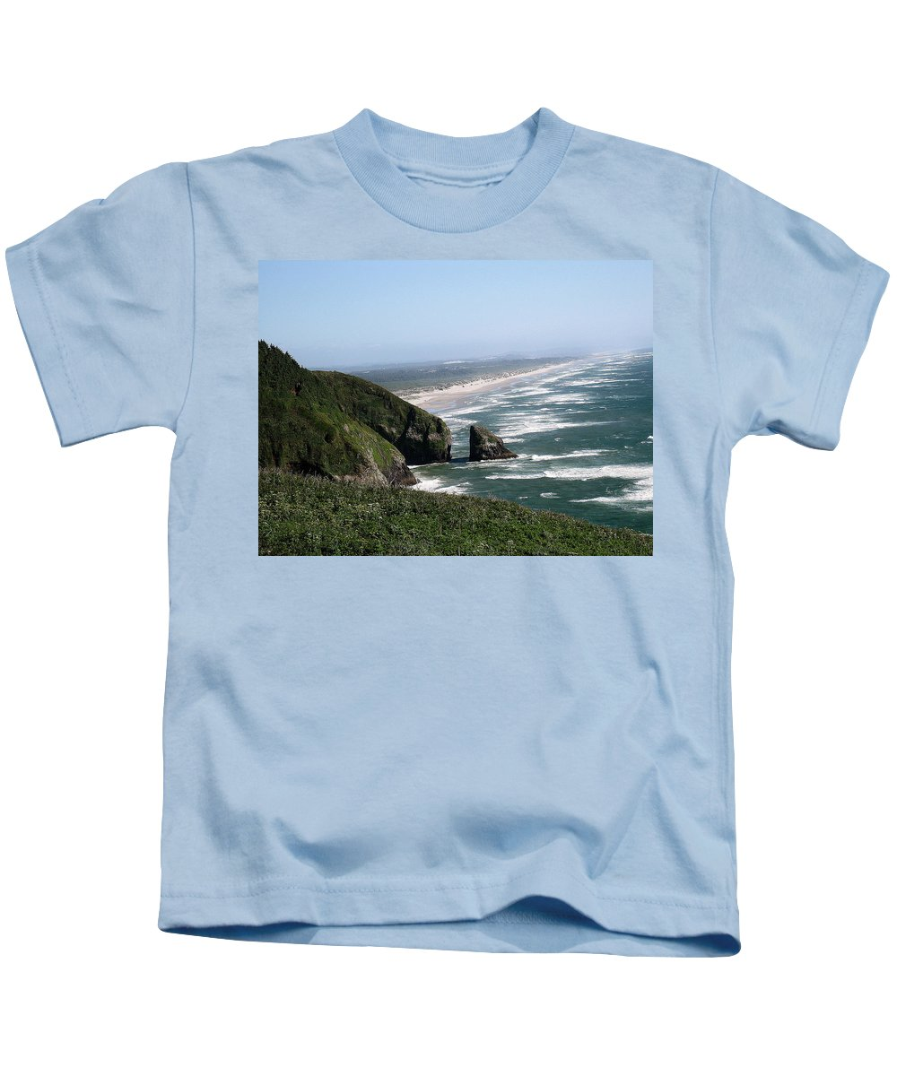 Florence Kids T-Shirt featuring the photograph View Of Florence by Linda Hutchins