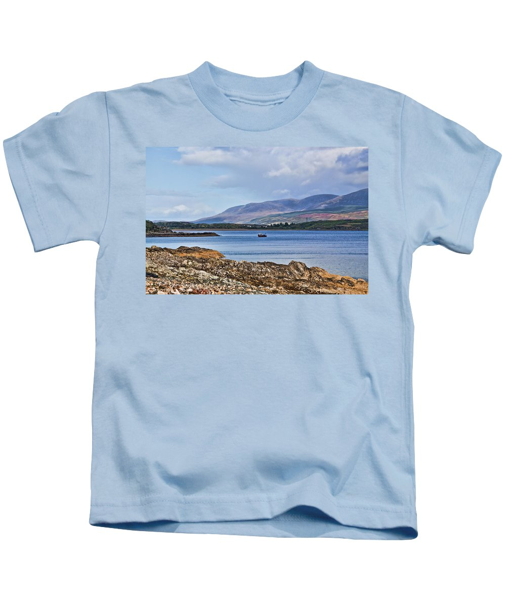 Isle Of Arran Kids T-Shirt featuring the photograph View Of The Isle Of Arran by Chris Thaxter