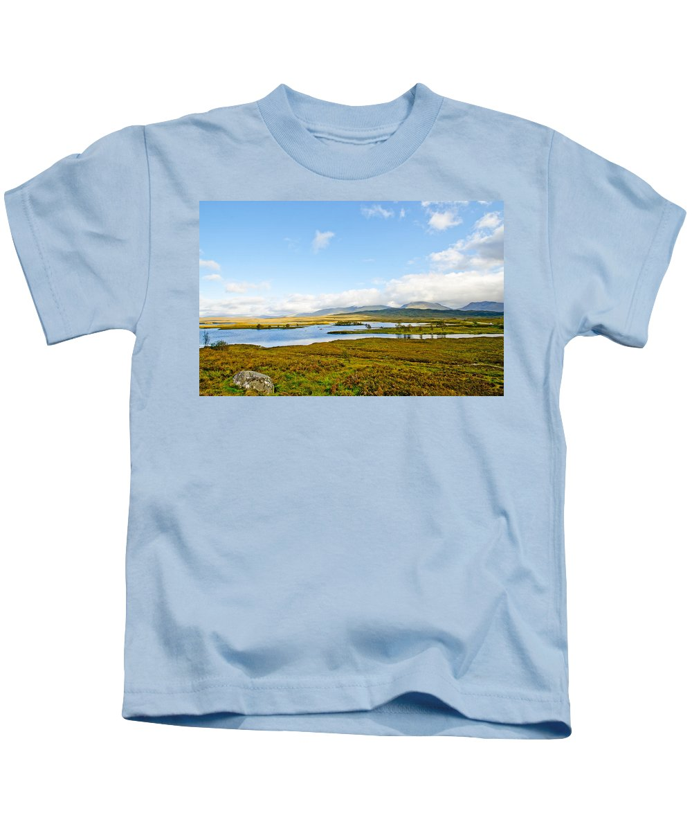 Loch Ba Kids T-Shirt featuring the photograph View Over Loch Ba by Chris Thaxter