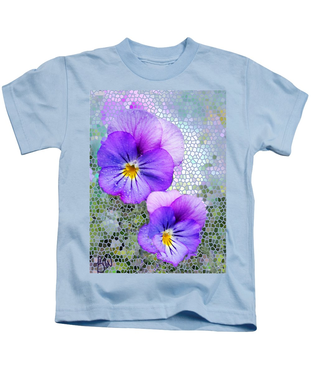 Viola Kids T-Shirt featuring the photograph Viola On Glass by Bonnie Willis