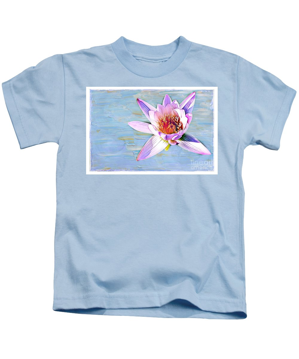 Water Kids T-Shirt featuring the photograph Water Lily by Judi Bagwell