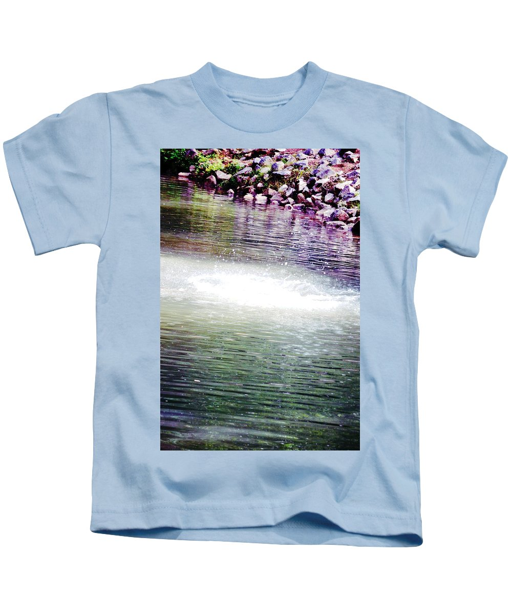 Whirlpool Kids T-Shirt featuring the photograph Whirlpool Of Water Suds by Maria Urso