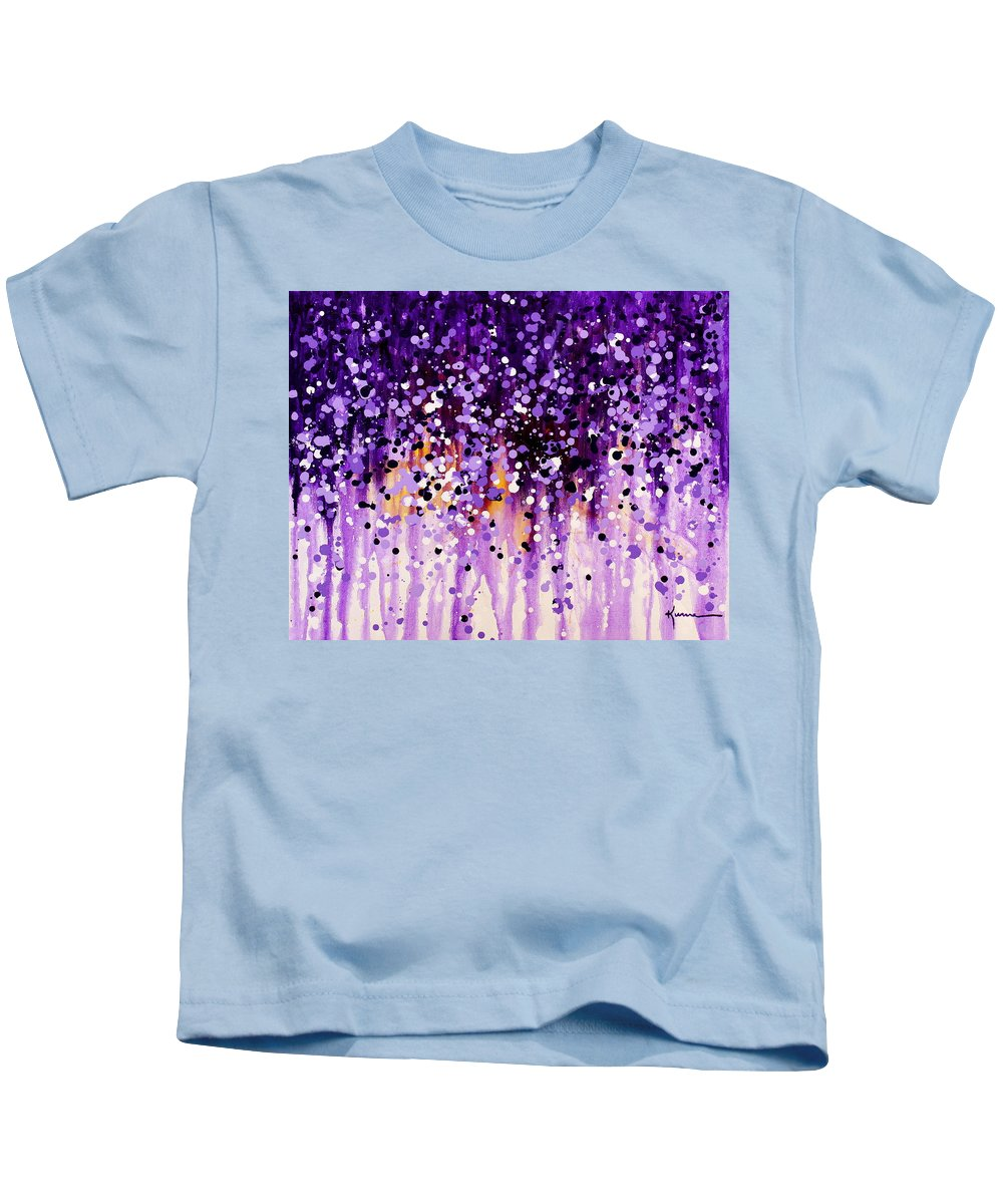 Floral Kids T-Shirt featuring the painting Wisteria by Kume Bryant