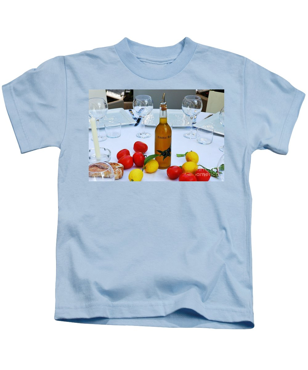 Italy Kids T-Shirt featuring the photograph Your Table Is Ready 2 by Allen Beatty