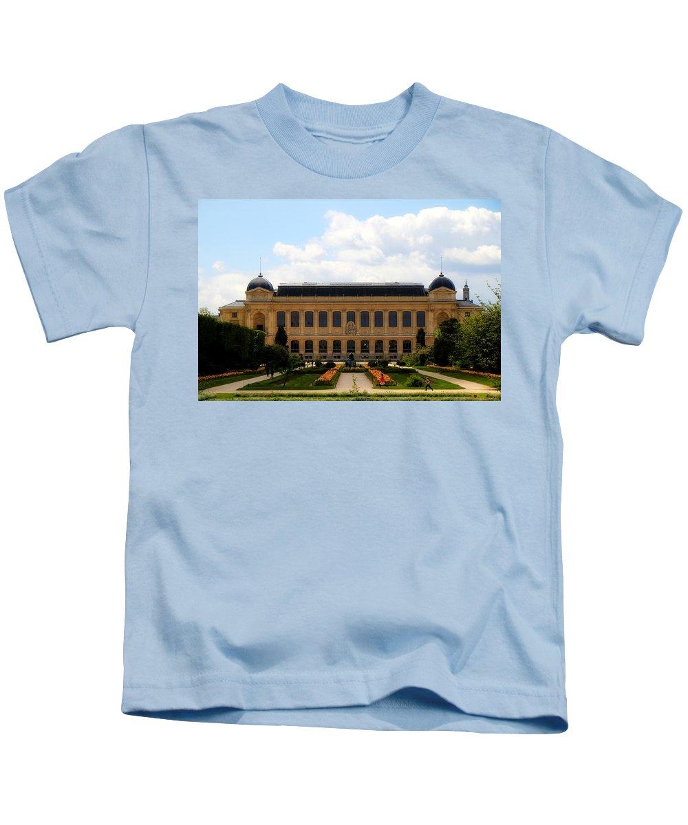 Paris Kids T-Shirt featuring the photograph Zoology Building Paris by Andrew Fare