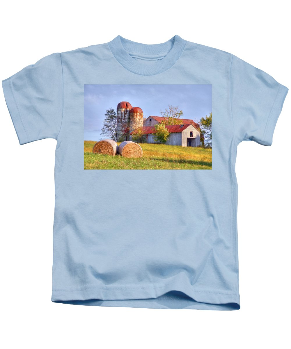 Barn Kids T-Shirt featuring the photograph Two by Mitch Cat