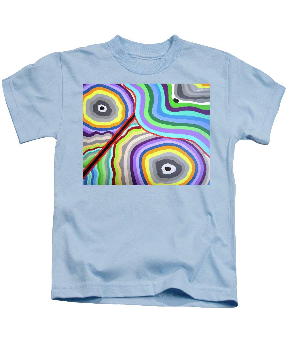 Zen Kids T-Shirt featuring the painting 042 Zen Garden by James D Waller