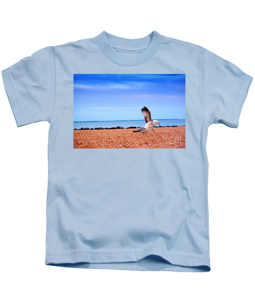 Clay Kids T-Shirt featuring the photograph A Day At The Beach by Clayton Bruster