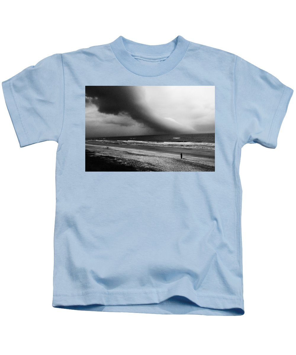 St. Augustine Kids T-Shirt featuring the photograph Alone In St. Augustine by Robert Magnus