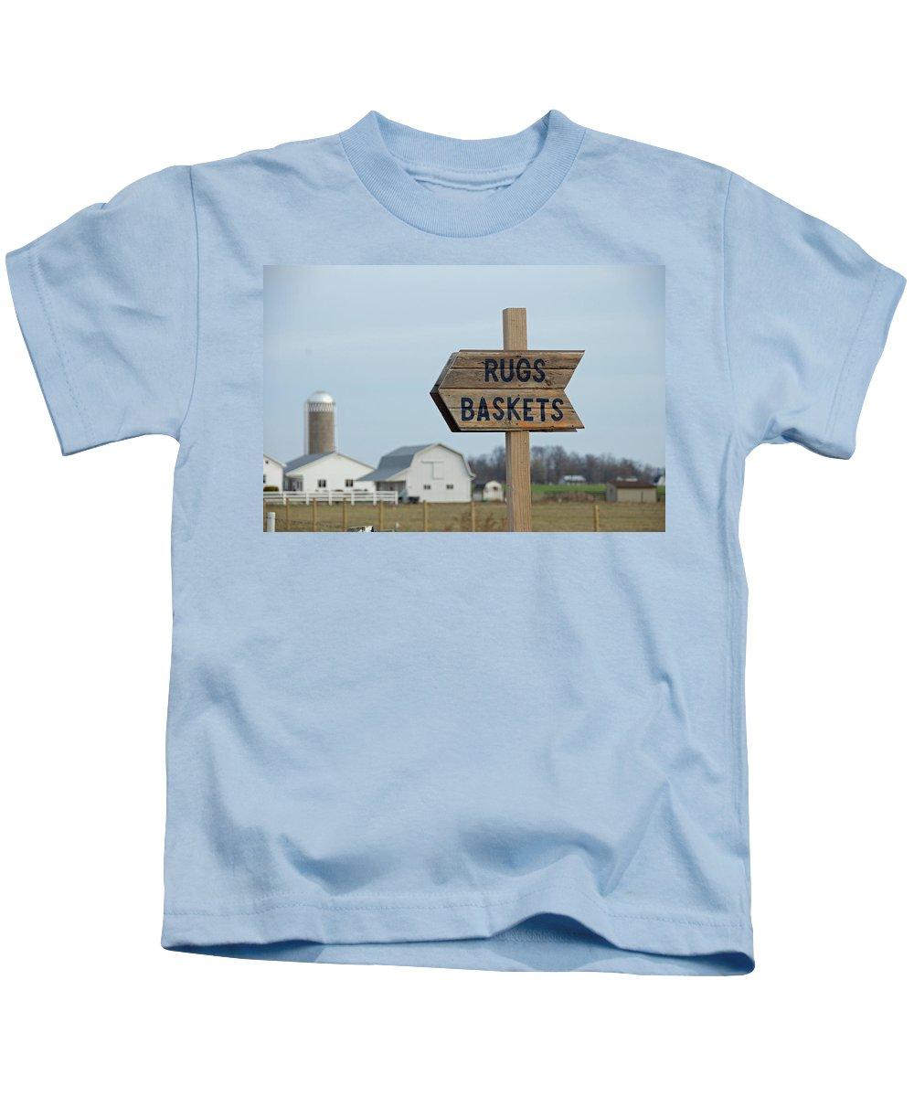Amish Kids T-Shirt featuring the photograph Amish Sign by David Arment
