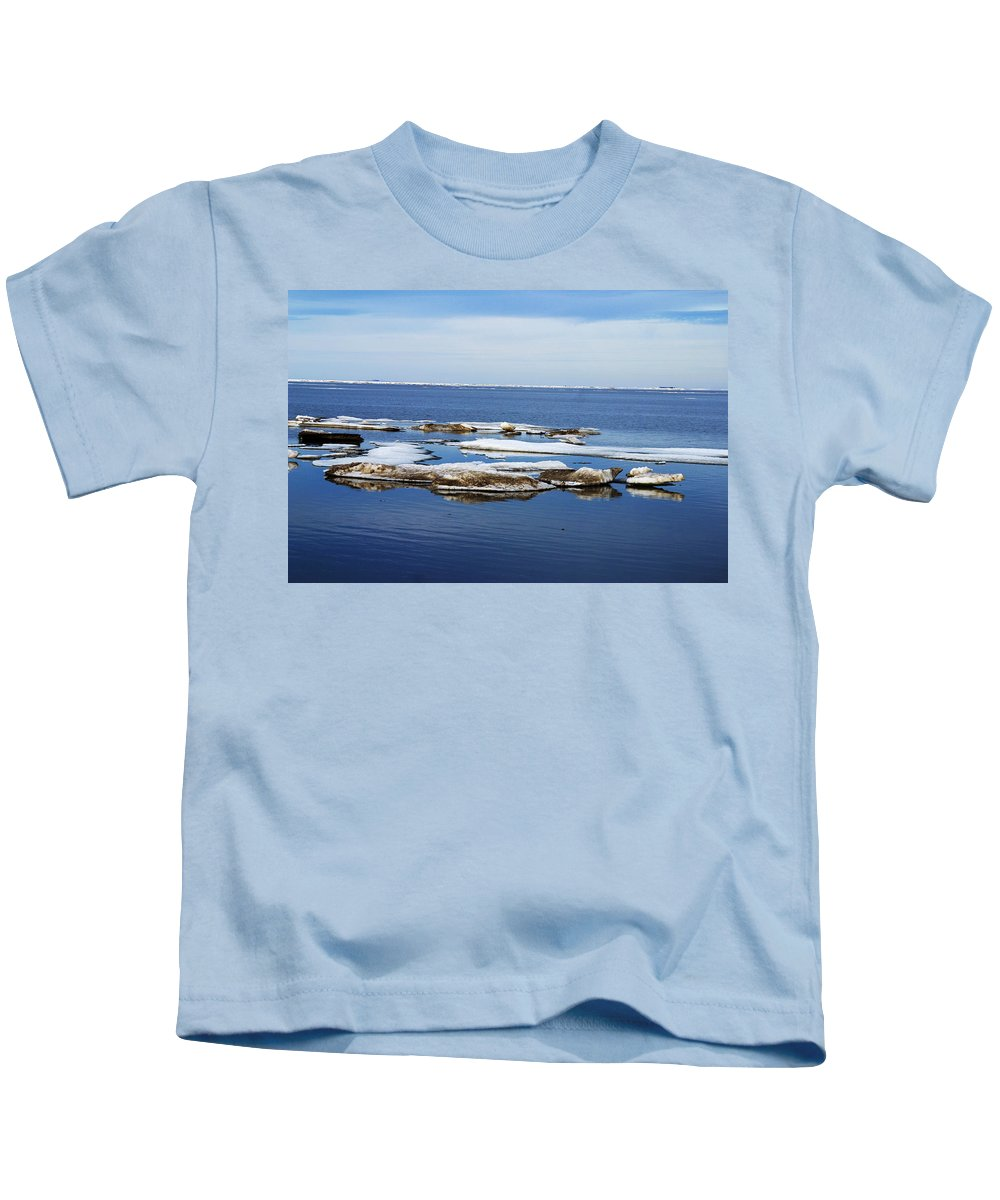 Ice Kids T-Shirt featuring the photograph Arctic Ice by Anthony Jones