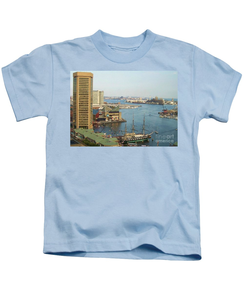 Baltimore Kids T-Shirt featuring the photograph Baltimore by Debbi Granruth