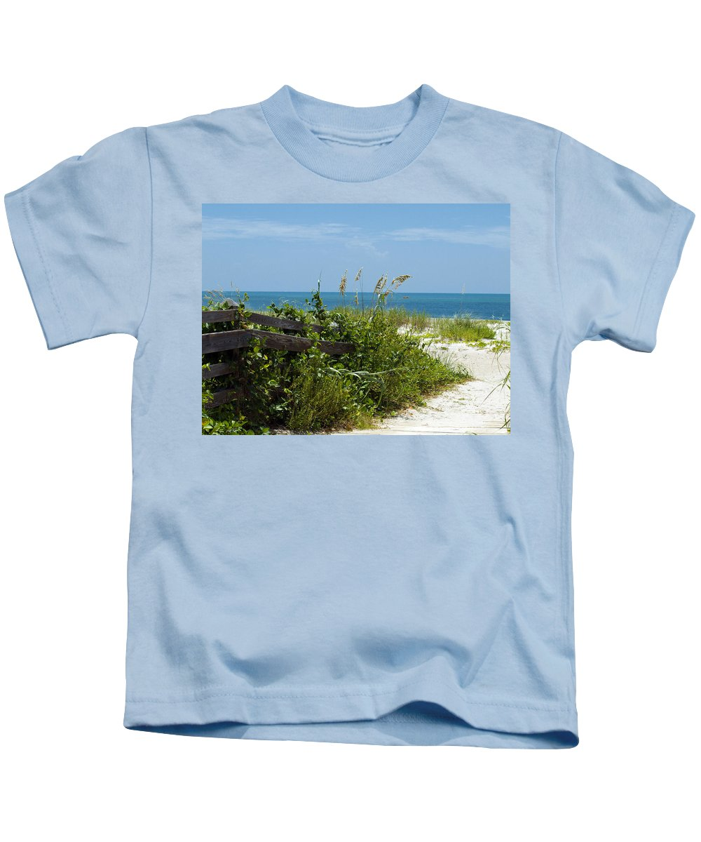 Florida; Beach; Ocean; Waves; Wave; Surf; Sand; Sandy; Coast; Shore; Atlantic; Cape; Canaveral; Scen Kids T-Shirt featuring the photograph Cape Canaveral Florida by Allan Hughes