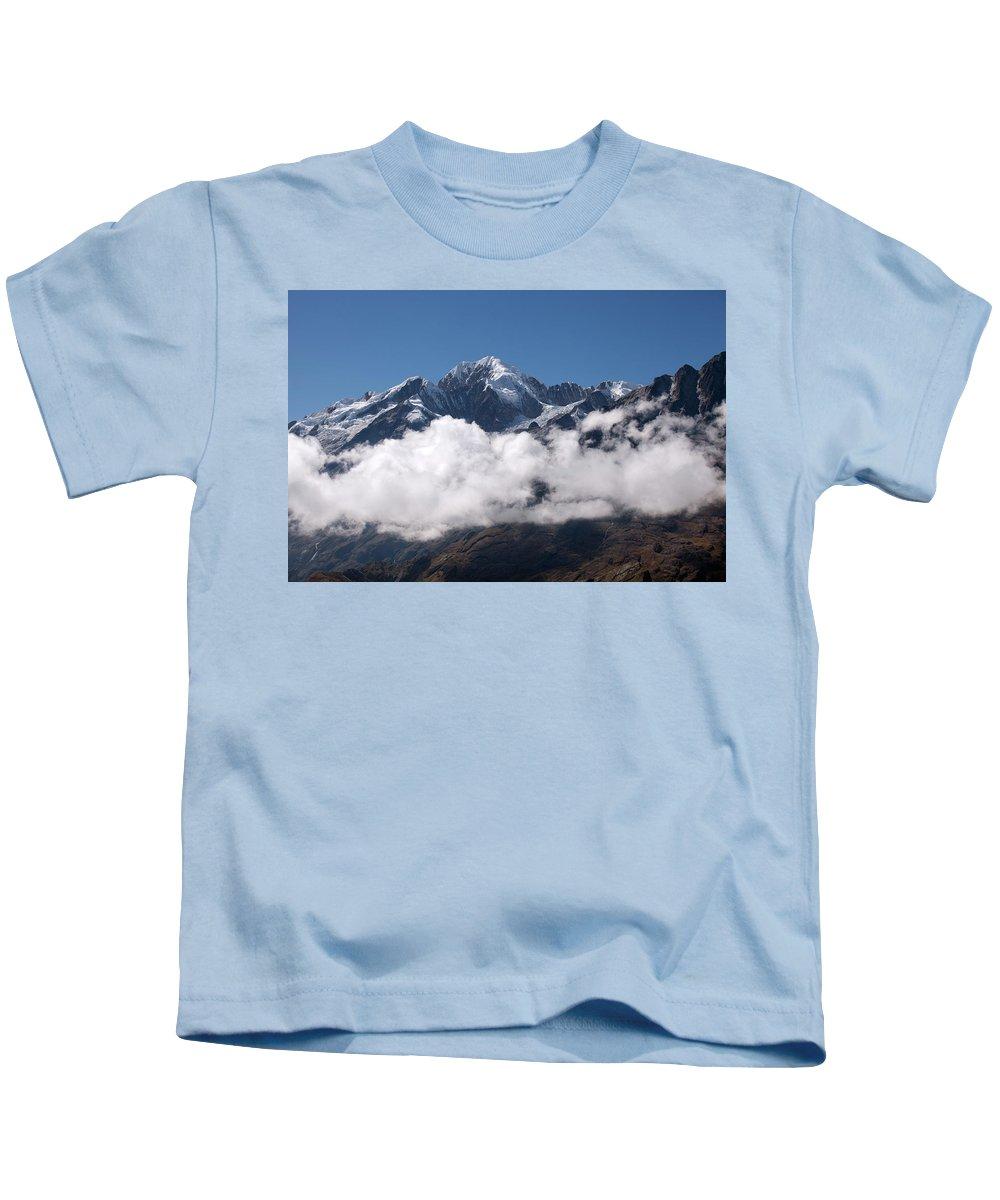 Cordillera Real Kids T-Shirt featuring the photograph Cordillera Real And Illampu by Aivar Mikko