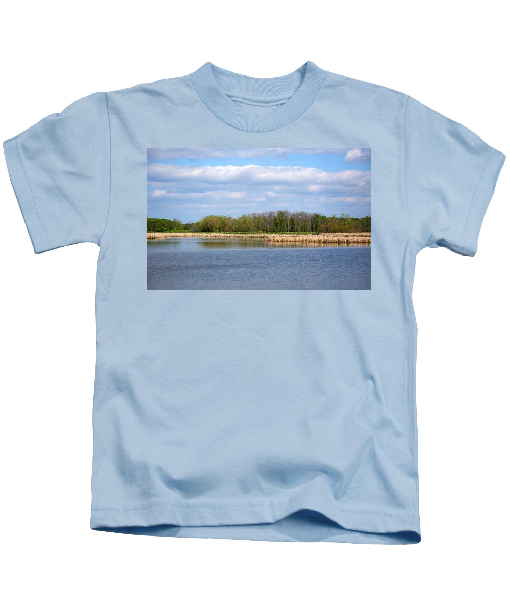 Landscape Kids T-Shirt featuring the photograph Lots Of Blue by Linda Kerkau