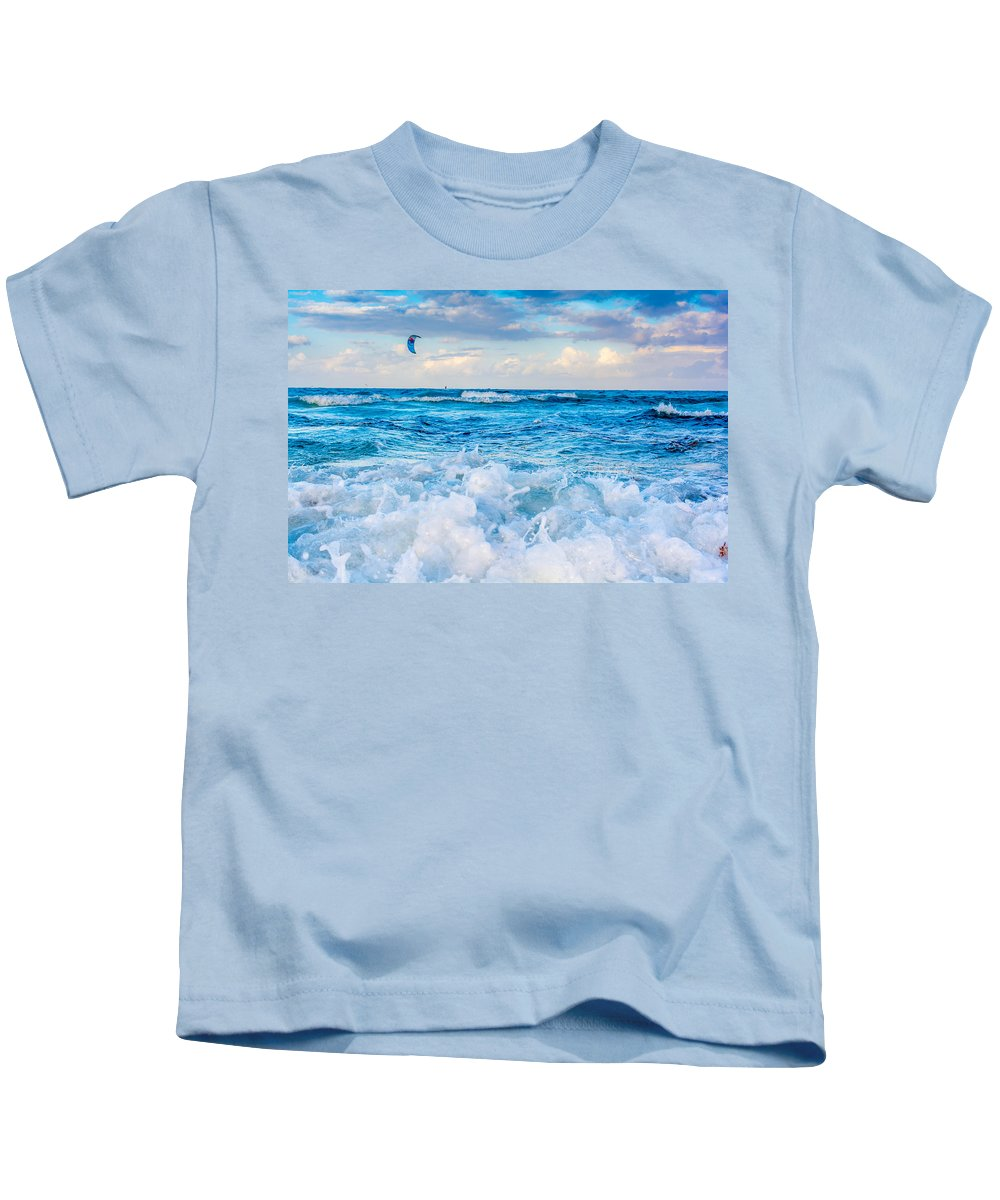 Miami Kids T-Shirt featuring the photograph Miami Beach by Manuel Lopez