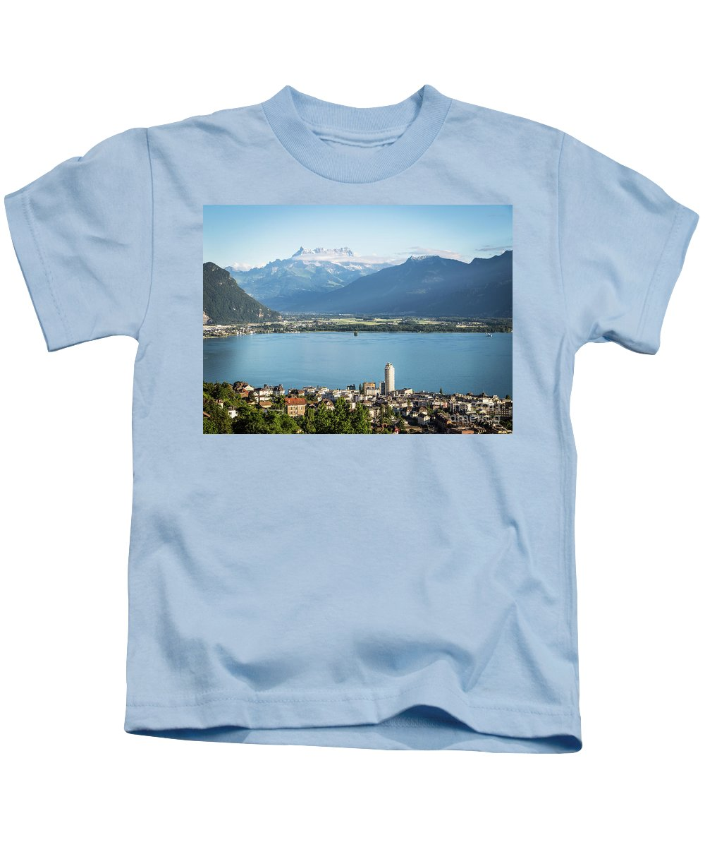 Europe Kids T-Shirt featuring the photograph Montreux by Didier Marti