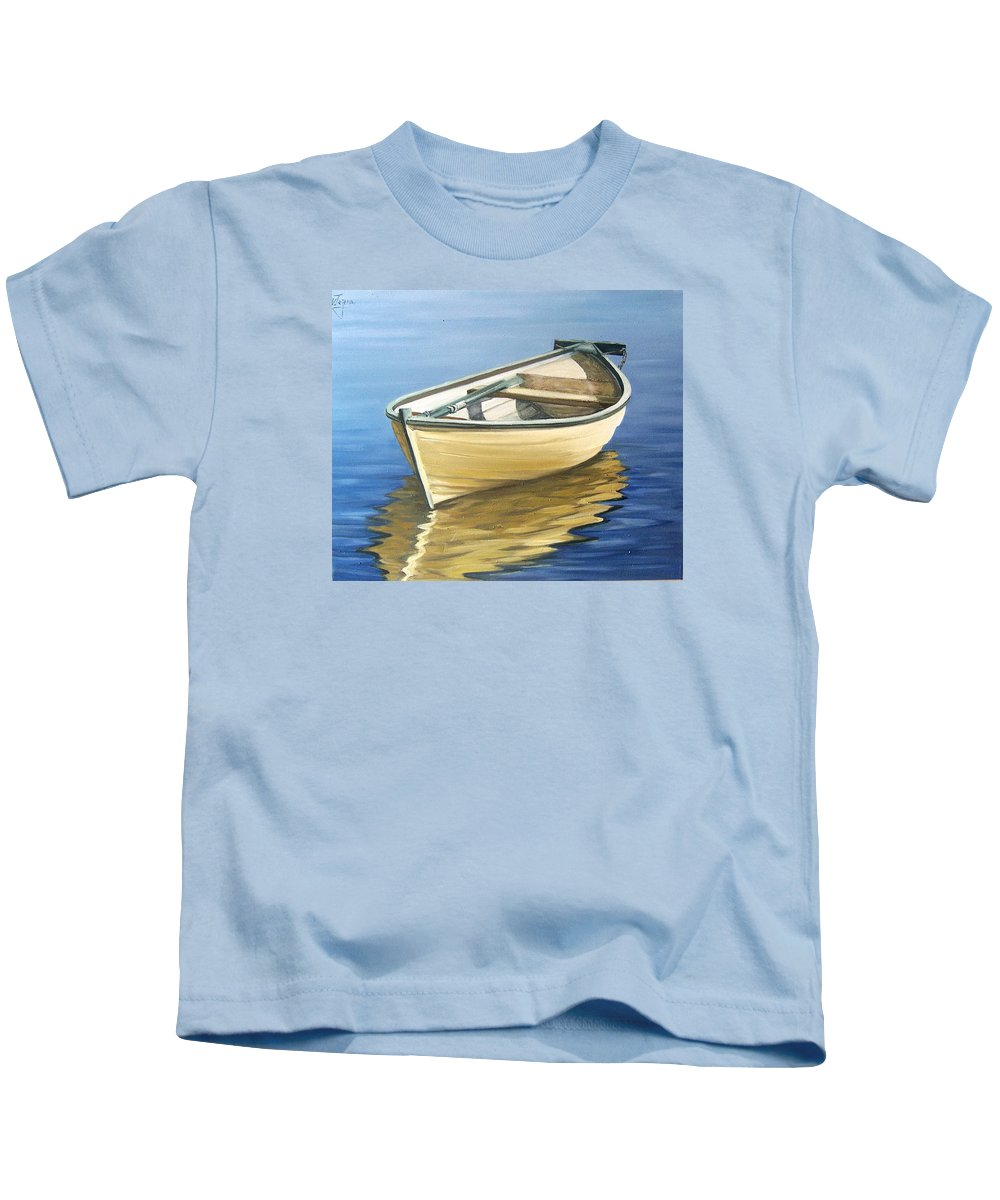 Still Life Kids T-Shirt featuring the painting Calm by Natalia Tejera