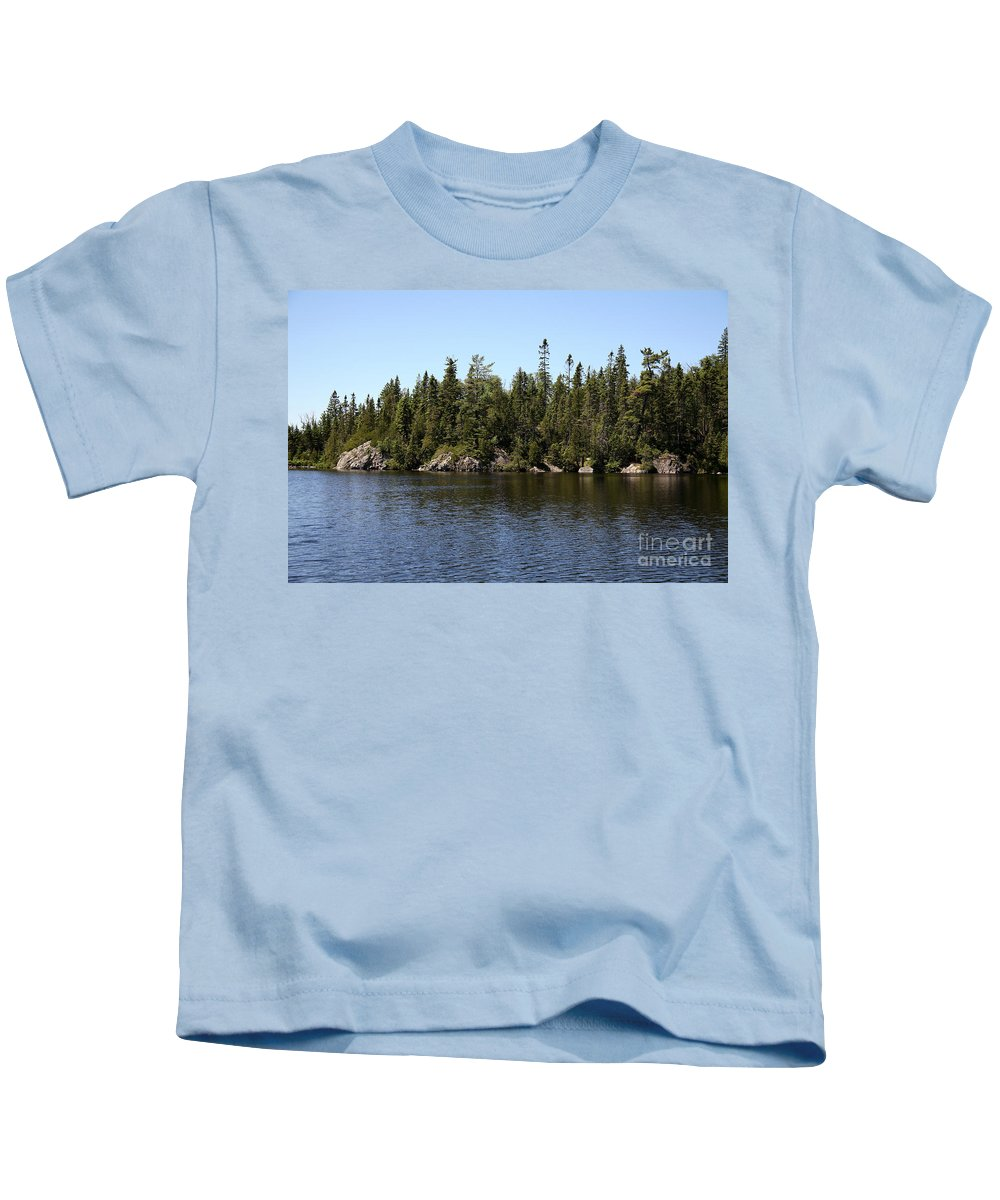 National Park Kids T-Shirt featuring the photograph Orphan Lake, Canada by Ted Kinsman